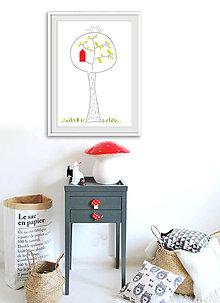 Grafika - Jsem z toho na větvi / Tištěná ilustrace - 6343611_