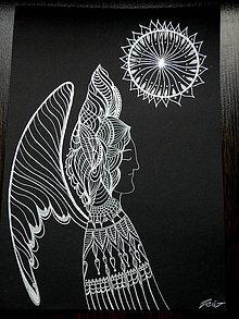 Kresby - Indiánsky anjel - 6346561_