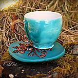 Kávová - Henna Style - šálka na kávu