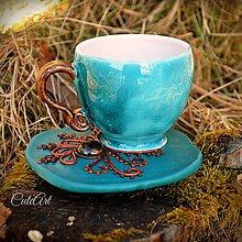 Nádoby - Kávová - Henna Style - šálka na kávu - 6345248_