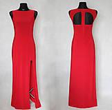 Šaty - Elastické spoločenské šaty s holým chrbátom rôzne farby - 6345140_