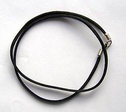 Iný materiál - Šnúrka z falošnej štiepenky  - čierna - 6343239_