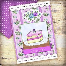 Papiernictvo - Receptár Dezert v záhrade ruží (čučoriedkový koláč) - 6343786_