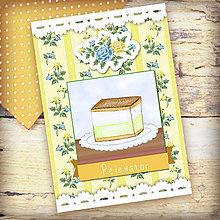 Papiernictvo - Receptár Dezert v záhrade ruží (krémeš) - 6343792_