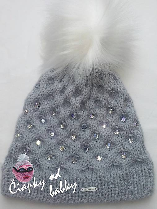 f9624953f Dámska čiapka s kamienkami / ciapkyodbabky - SAShE.sk - Handmade Čiapky