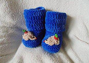 Topánočky - Plyšové s ježkami :) - 6347847_