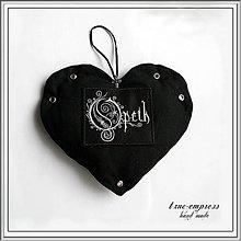 Dekorácie - Prívesok srdce - OPETH - 6347402_