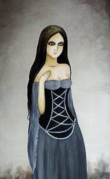 Obrazy - Lady mist - olejomaľba - 6349227_