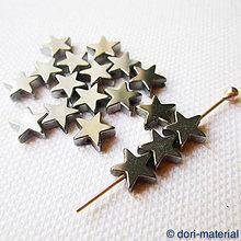 Minerály - hematit hviezdy, 8 mm - 6349200_