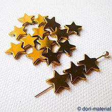 Minerály - hviezdičky zláteného hematitu, 10 mm - 6349293_