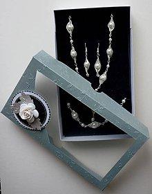 Sady šperkov - Biela sada - 6351455_