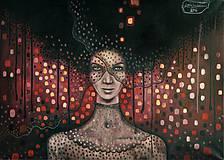 Obrazy - Žena, ktorá neuteká - 6351454_