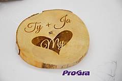 Drobnosti - Ty+Ja=MY drevená dekorácia - 6347388_