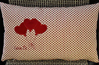 Úžitkový textil - vankúšik Valentín-voňavý - 6348226_