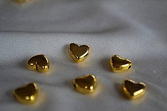 Korálky - Korálka srdce tibetská, 10mm, 0.35€/ks - 6349528_