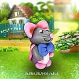 Hračky - Myšia rodinka (syn) - 6351428_