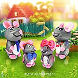 Hračky - Myšia rodinka (NA ZÁKAZKU) - 6351443_