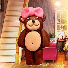 Hračky - Medvedia rodinka (mama) - 6351385_