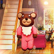 Hračky - Medvedia rodinka (dcéra) - 6351394_