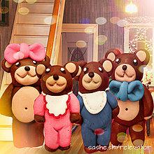 Hračky - Medvedia rodinka (na zákazku) - 6351395_