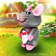 Hračky - Myšia rodinka (mama) - 6351419_