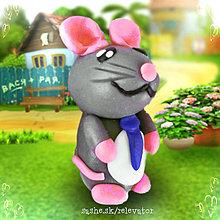 Hračky - Myšia rodinka (otec) - 6351424_