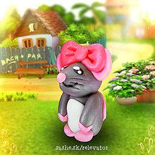 Hračky - Myšia rodinka (dcéra) - 6351430_