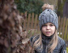 Detské čiapky - Zimná pletená ...