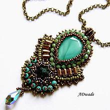 Náhrdelníky - Korálkový náhrdelník 589-0026 - 6354094_