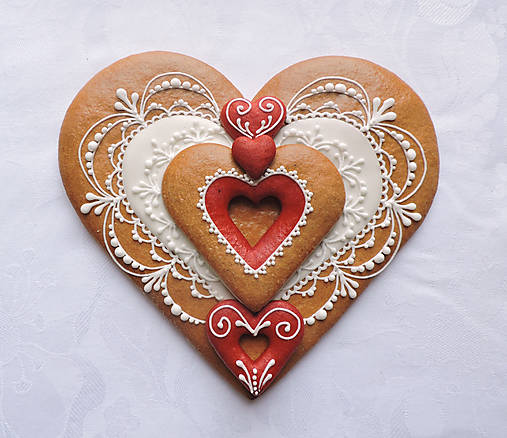 Medovníkové srdce - Môj Valentín   MeDada - SAShE.sk - Handmade ... 13dd0d04e39