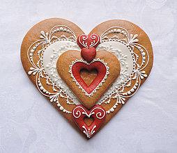 Dekorácie - Medovníkové srdce - Môj Valentín - 6352342_