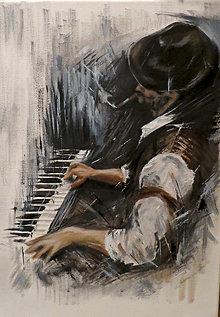 Obrazy - Obraz - Pianista - 6354876_