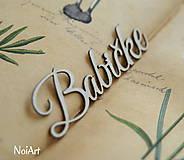 Polotovary - Papierový nápis Babičke - 6355216_
