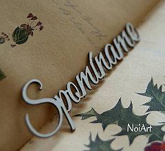 Papier - Papierový nápis Spomíname - 6355128_