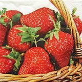 - S611 - Servítky - jahody, plný košík jahôd - 6355830_