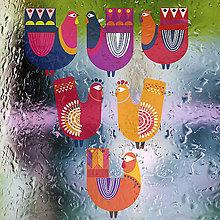 Dekorácie - Kuřata - přelepovací nálepky okenní z kol. LIDOVKY - 6355707_
