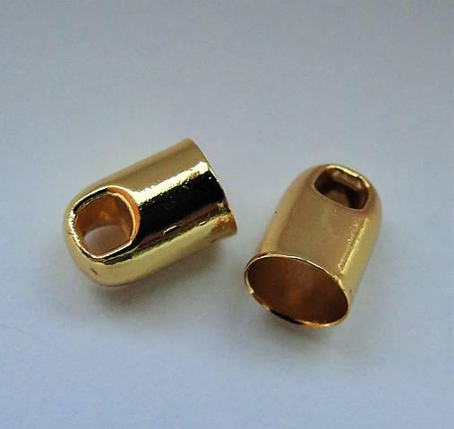 Koncovka 9x6mm-1ks (zlatá)
