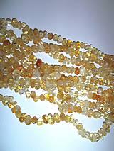 Minerály - citrín tromlovaný korálky 10ks - 6353311_