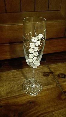 Nádoby - Jemne kvetinkové svadobné poháre - 6354036_