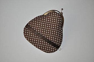 Peňaženky - Hnedá-mini-peňaženka - 6353078_