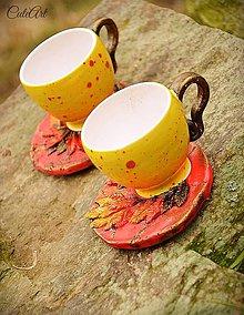 Nádoby - Ohnivý Fénix (picollo) - šálka na kávu - 6352913_