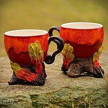 Nádoby - Vzácny Fénix (klasik) - šálka na kávu - 6352949_