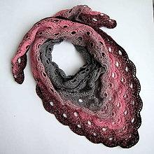 Šatky - Prelínanie farieb - šatka bavlna/akryl - 6355689_