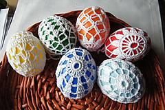 Dekorácie - Vajíčka v bielej  sieťke - 6353931_