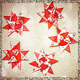 Dekorácie - 3D hviezda z papiera - nórske vzory - 6355450_