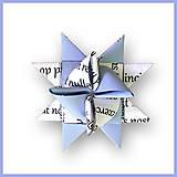 Dekorácie - 3D hviezda z papiera - bulvárna (novinová :-D) - 6355465_
