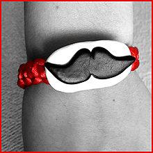 Náramky - Moustache proti urieknutiu - shamballa náramok - 6354460_