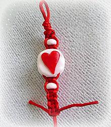 Kľúčenky - Valentínska shamballa kľúčenka - 6354505_