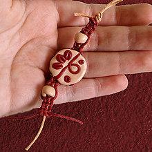 Kľúčenky - Kvapka vína v nugáte - shamballa kľúčenka - 6354512_