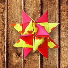 Dekorácie - Vianočné 3D hviezdy rôzne (srdiečka) - 6355171_
